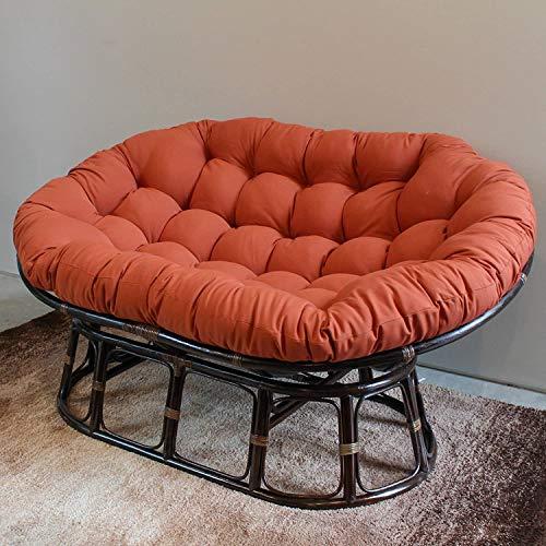 KKLTDI Needles Solid Double Papasan Chair Cushion,for Outdoor Indoor,65inch Spun Polyester Rattan Papasan Chair Pads Orange 172x120x15cm(68x47x6inch)