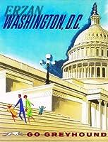 ERZANノスタルジックなデザインが人気のブリキ看板ワシントンD.C.ヴィンテージアメリカ合衆国アメリカ旅行広告壁の装飾牌20x30cm