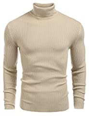 FANTASTICALLY COMFORTABLE-- Quality fabric offers optimal softness and durability. High-end knit process,do not shrink. FEATURES-- Turtle neckline/ Slim fit/ Thick knit sweater/ Solid color/ Long sleeves/ Modern basic designed pullover sweaters. MATC...