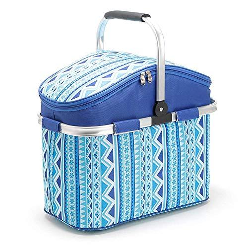 TYUXINSD Bellissimo Camping Picnic Canestro Grande capacità 26L Camping Frigorifero Borsa Portatile Picnic Picnic Picnic Cibo Fresh Lunch Basket Shopping Handbag Picnicware (Color : Blue)