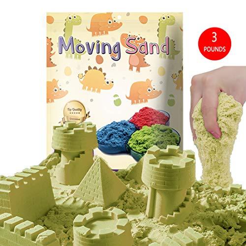 CROSOFMI Magic Sand Zaubersand Magischer Kinetischer Sand für Kinder Super Farbe Sand Spielzeug für Jungen und Mädchen über 3 Jahre(Natürlich)