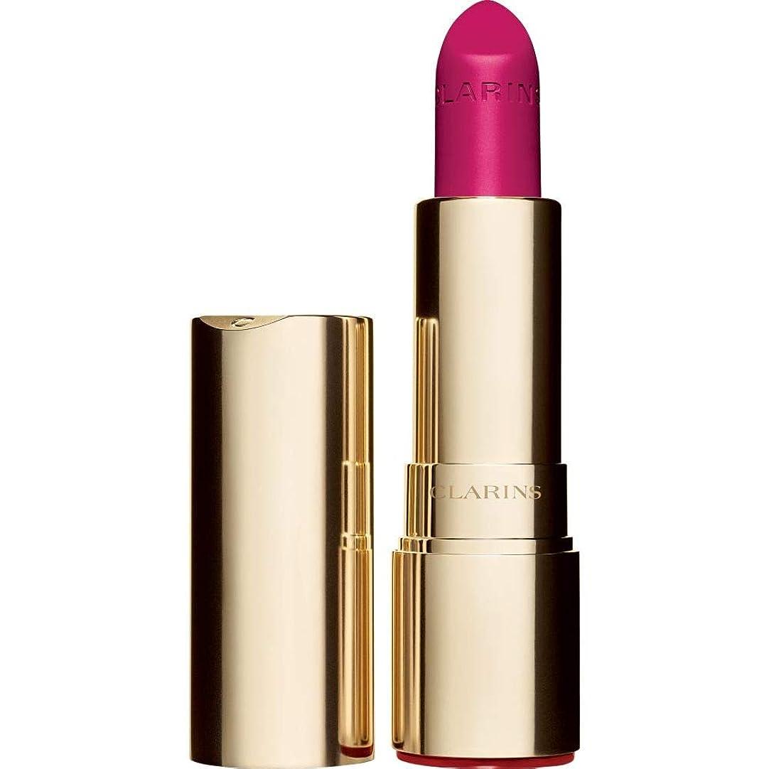 取得する近々もろい[Clarins ] クラランスジョリルージュのベルベットの口紅3.5グラムの713V - ホットピンク - Clarins Joli Rouge Velvet Lipstick 3.5g 713V - Hot Pink [並行輸入品]