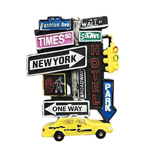 Imán de nevera 3D para recuerdo de Nueva York, EE. UU., pegatina de viaje, decoración para el hogar y la cocina, imán para nevera de Nueva York