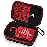 Tasche für JBL GO3 Bluetooth-Lautsprecher, tragbar, Schutzhülle Cover Hülle (rot)