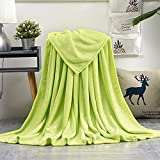 GDDREAM Mantas para Sofa de Franela,Manta para Cama 90 Reversible de 100% Microfibre Extra Suave,Manta Transpirable (Verde, 150x200 cm)