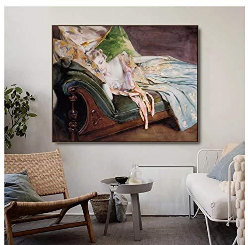 DNJKSA El cojín Verde de Irving Canvas Painting Posters Canvas Print Wall Art Painting para Sala de Estar Decoración para el hogar Gift-24x36 IN Sin Marco