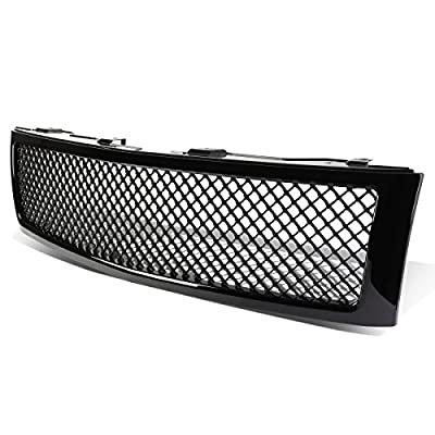 Replacement for Chevy Silverado 1500 GMT900 ABS Plastic Mesh Style Front Upper Grille (Glossy Black)