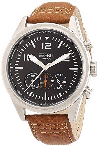 Esprit Herren-Armbanduhr XL chester Analog Quarz Leder ES106321001