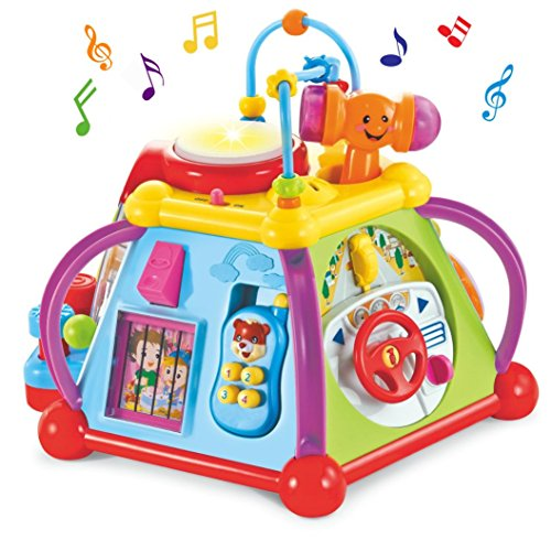 WISHTIME Baby Activity Center Cubo Musical Play & Learn Juguete Educativo