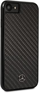 Mercedes Benz Real Carbon Fiber Case for iPhone 8 and iPhone 7 Hard Cell Phone Cover Black Easy Snap-on Shock Absorption Cover Officially Licensed.