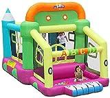 Vivid Castillos hinchables Trampoline Children's Bouncy Castillos de Juguete Diapositivas Infantiles al Aire Libre Pequeño Castillo Inflable Home Plaza Jump Trampoline