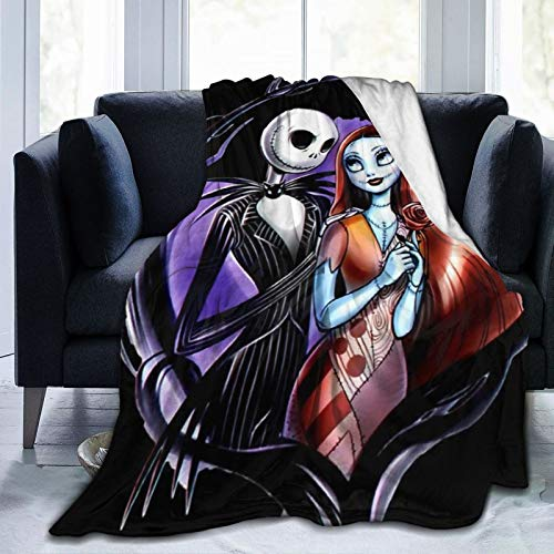 The Nightmare Before Christmas Throw Blankets Lightweight Soft Flannel Bedding Blanket Bed Couch for Kids/Adults 60'X50' A