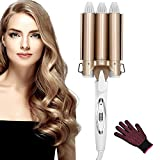 Hair Curler, Curling Iron Upgrade Version Ceramic 3 Barrels Hair Curler, Quick Heating