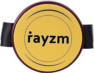Rayzm トレーニングパッド、膝当てタイプ、ドラム練習パッド、直径4インチ(10.2cm)、ミニドラム練習パッド、持ち運びに便利し、8mmのドラムスタンドに付けて使用が可能