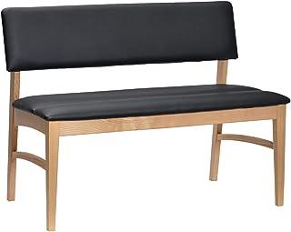 タマリビング(Tamaliving) 胡桃 ダイニングベンチ 背付きベンチ 無垢材 ナチュラル [ベンチ単品] 50003444 幅114×奥行53×高さ76cm(座面高43cm)