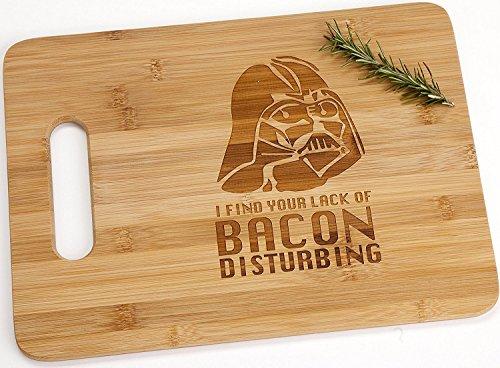Darth Vader Engraved Bamboo Wood Cutting Board