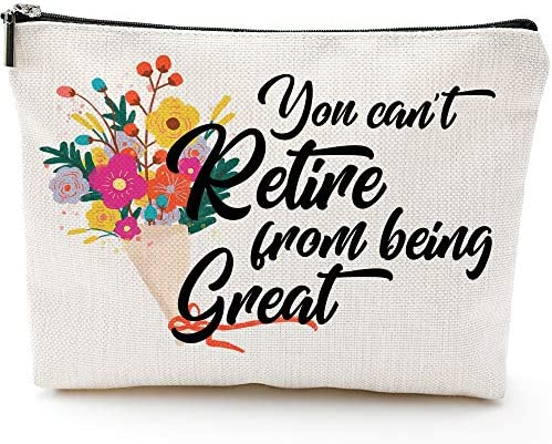 Funny Retirement Gifts for Women Mom Boss Retirement women makeup bag Gift Retired bag for Coworkers product image