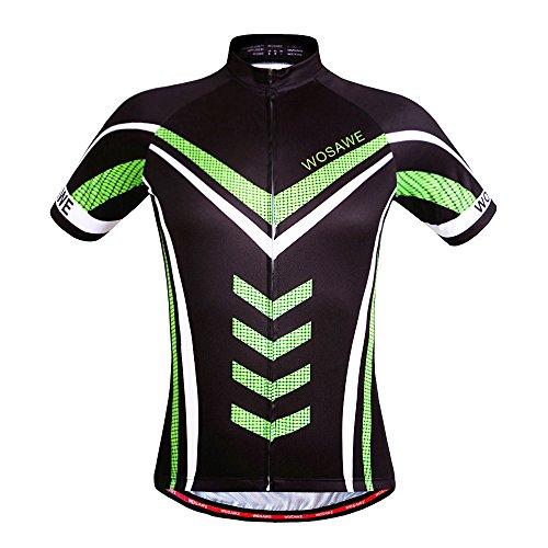 Wosawe Herren Radsport-Shorts, atmungsaktiv, kurze Ärmel, gepolstert, schnelltrocknend XXL Jersey_hulk
