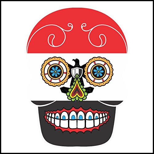 Adhesivo decorativo para azulejos de baño & de la cocina - cocina de azulejos blancos individuales fluir se recomienda - azúcar cráneo de imagen país - Egipto, 10 x 10 cm