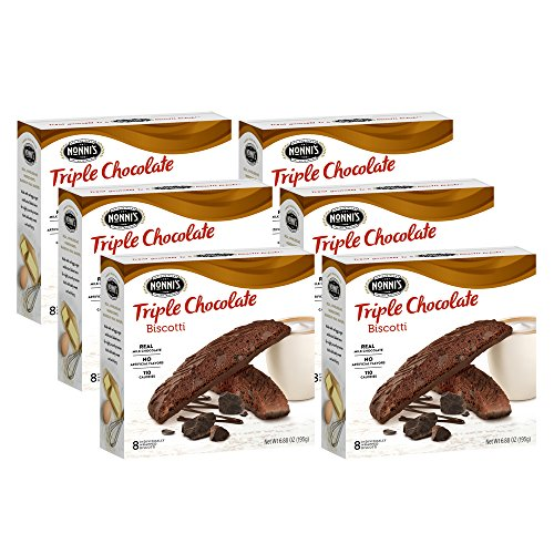 Nonni's Biscotti, Triple Chocolate, 6 Boxes, 48 Biscotti Total