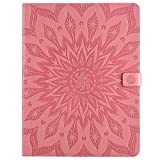 Yhuisen Sunflower Printing Design PU Leather Flip Wallet Tablet Case Cover for iPad Pro 12.9 inch (2020 Release, 4rd Generation) (Color : Pink)