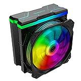 Nfortec Centaurus X - Disipador por Aire para CPU con Iluminación A-RGB y hasta 180W de TDP máxima - Color Negro