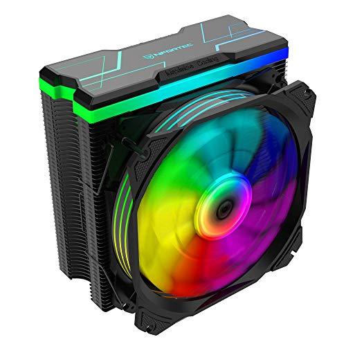 Nfortec Centaurus X – Dissipatore ad aria per CPU con illuminazione A-RGB e fino a 180 W di TDP massima, colore: nero