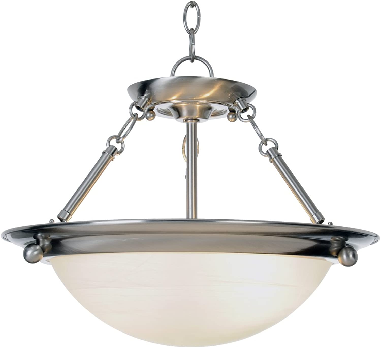 Monument 560795  Contemporary Pendant, Brushed Nickel, 15-1 2 X 13-1 4 In.