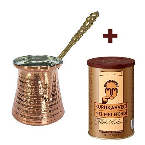 Türkische Kupfer-Kaffeekanne 250ml + 250gr coffee kupfer