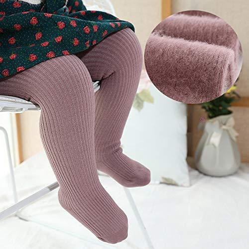 Les filles d'hiver doux Pantalons Collant Tight Knit bébé Leggings Couleur chaude Chaussettes longues pour nourrissons Chaussettes enfant en bas âge Convient pour 0-10 Ans Filles,Violet,M