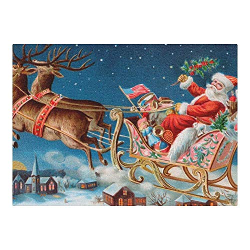 Wooden Jigsaw Puzzle, Custom Puzzles Christmas Reindeer Santa Claus 300 Pieces Jigsaw Puzzle Funny Novelty DIY Toys for Adult Children Gift Home Decoration, 10×15 Inch