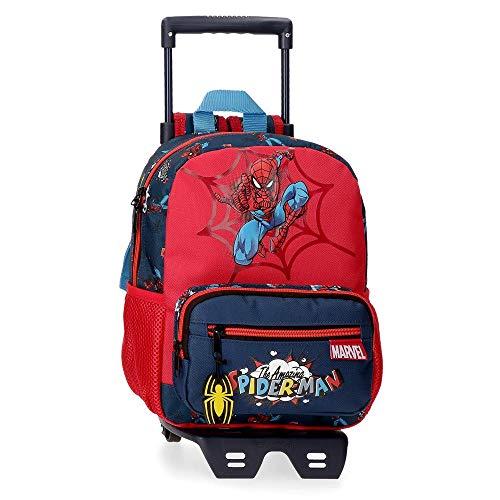 Marvel Spiderman Pop Mochila Preescolar con Carro Multicolor 23x28x10 cms Poliéster 6.44L