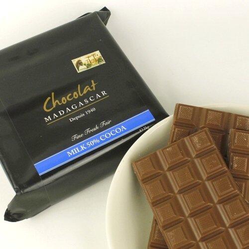 ショコラマダガスカル クーベルチュール チョコレート (ミルク50%, 1KG)