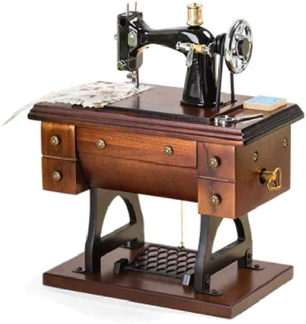 Jbshop Max 76% OFF Musical Boxes Figurines Wooden M Box Retro Sewing Music Great interest