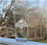 Personalised 16 Oz Pint Beer Glass Etched Pint Glass, Personalised Pint Glasses, Custom Pint Glasses, Hunting Glass Clear Glass Beer Cups