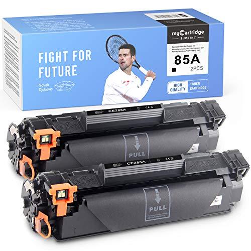 myCartridge SUPRINT Tóner compatible 85A CE285A, color negro, repuesto para HP 85A CE285A para HP Laserjet Pro P1102 P1102W M1212NF M1214NFH MFP M1217NFW M1132 M1210 M1130 (2 )