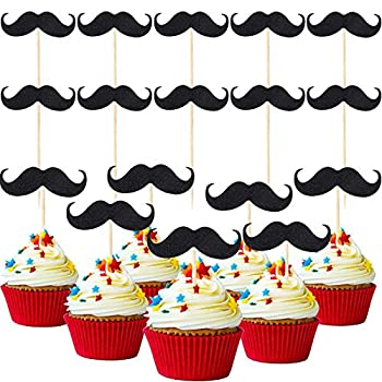 Best mustache cake toppers Reviews