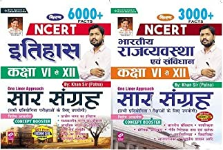 Kiran NCERT History Class VI to XII 6000 Facts NCERT Indian Polity and Constitution Class VI to XII 3000 Facts 2 BOOK SET By Khan Sir Patna