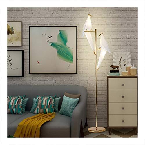 Vloerlamp, Woonkamer Mode Studie Slaapkamer Vloerlamp, Creatieve Duizend Papier Kraan Vloerlamp Rechtopstaande Lamp