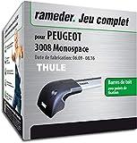 Rameder Pack Barres de Toit WingBar Edge pour Peugeot 3008 Monospace...