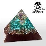 Grande Piramide Orgonite carica di Reiki Arborea fatta a mano