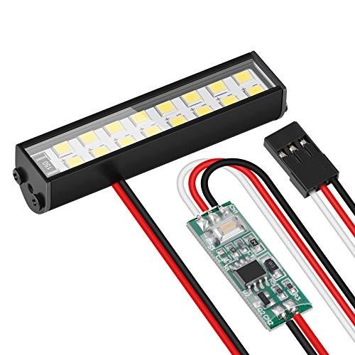 RC Car LED Light Bar Ultra Bright 16 LED Led Light Kit Decoration for RC Models 1/10 TRX4 SCX10 CC01 Bigfoot Flat Car Buggy