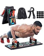 JoyCube Opvouwbaar 9-in-1 Push up Board + Hand Grip Trainer(10kg-60kg),Opdrukbeugels voor Spiertraining, Bodybuilding en Lichaamsvorming,Home, Gym lichaam Oefening Tools,Effectieve Fitnessapparatuur