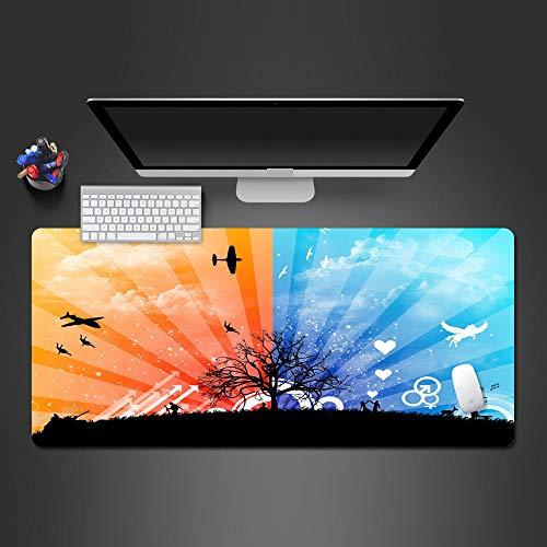 JIACHOZI Alfombrilla Raton Gaming XXL Color luz avión Amor. 900×400×3mm Alfombrilla de ratón para Videojuegos,Alfombrilla de ratón para Gaming Alfombrilla de ratón de Juego Alfombrilla de Raton Gamin