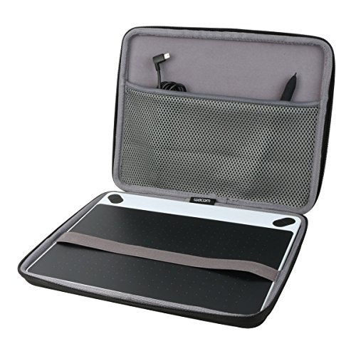 co2CREA Harte reiseschutzhülle Etui Tasche für Wacom Intuos M Mobiles Zeichentablett(Nur Tasche)(Tasche für Wacom Intuos M)
