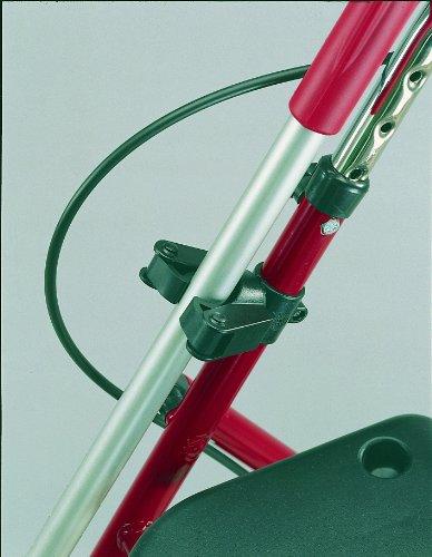 Gehstockhalter für Rollator und Rollstuhl Befestigung an 22mm Rohren, für Gehstöcke mit D= 15-20 mm