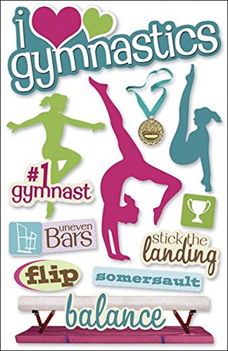 Paper House Productions STDM-0061E 3D Cardstock Stickers, Gymnastics (Pack of 1)
