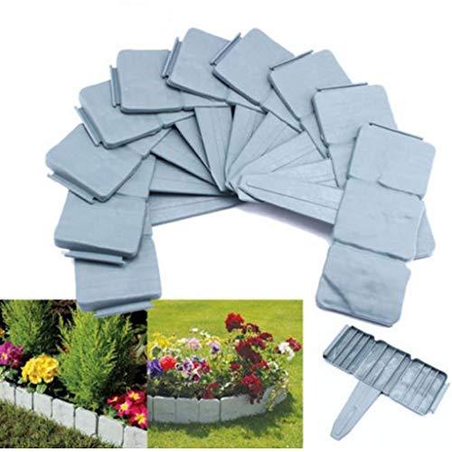 CULER Garten-Dekorationen Artificial Fence Kiesel Steine Parterres Ziegelmauer Moulds Border Stenen Muur Jardin Garden Suppiles