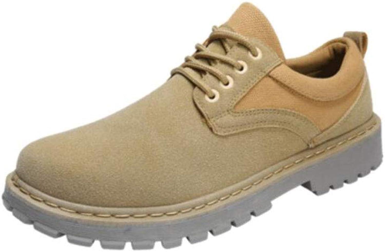 FH Tooling Casual koreanische Version der Wilden Trend Jugend Rutschfeste Comfort Low Ankle Stiefel (Farbe   Khaki, Größe   EU42 UK8.5 CN43)