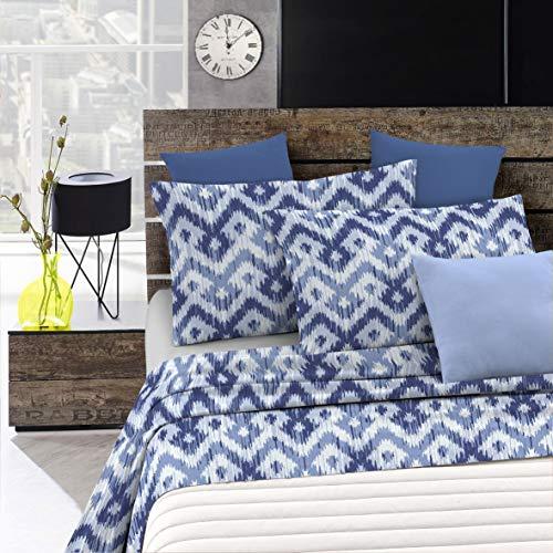 Italian Bed Linen Fantasy Completo Letto, Microfibra, Multicolore (Rombi), A Una Piazza e Mezza